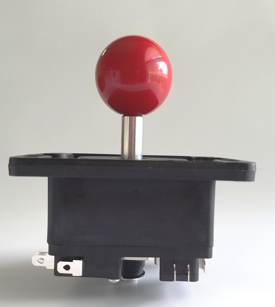 SHORT SHAFT BALL TOP JOYSTICK -RED - Click Image to Close